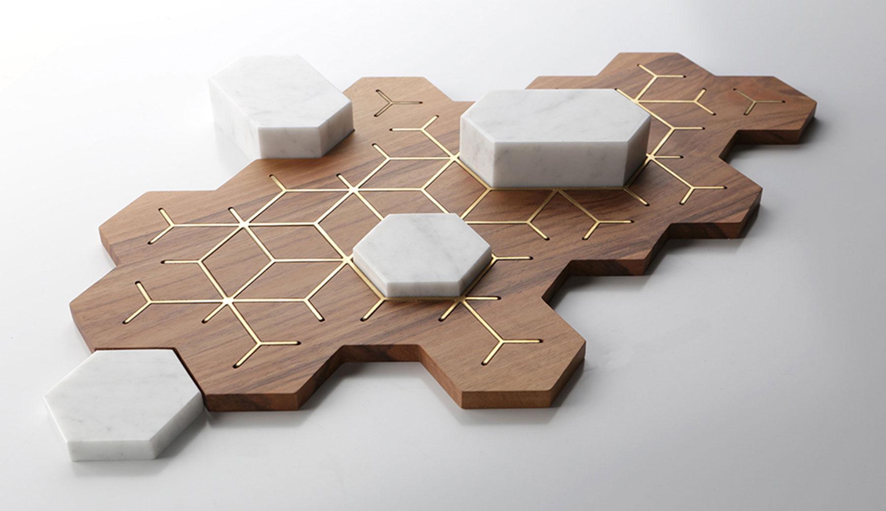 exagona vassoio design
